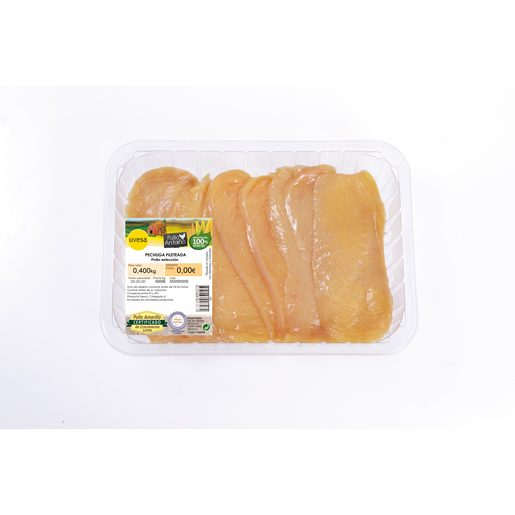 Filetes de pechuga de pollo de antaño bandeja 400 gr