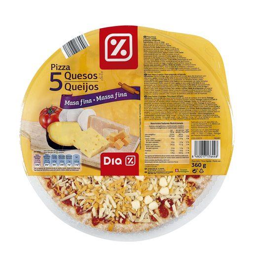 DIA pizza 5 quesos envase 360 gr