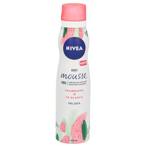 NIVEA mousse corporal frambuesa y té blanco piel seca spray 200 ml
