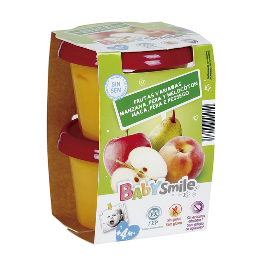 BABYSMILE frutas variadas tarrito 2 x200 gr