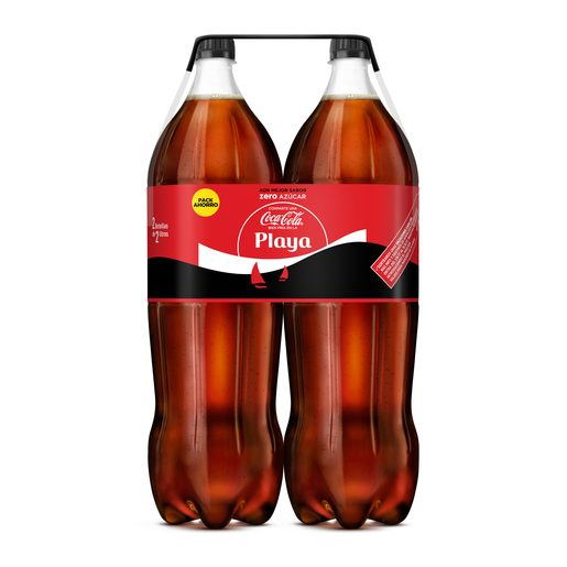 COCA COLA zero pack 2 botellas 2 lt