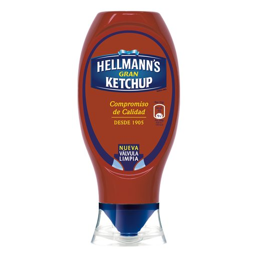 HELLMAN´S ketchup bocaabajo bote 430 ml
