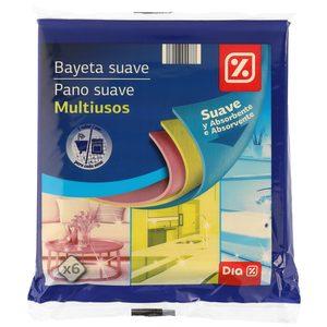 DIA bayeta absorbente y suave paquete 6 uds