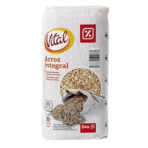 DIA VITAL arroz integral paquete 1 Kg