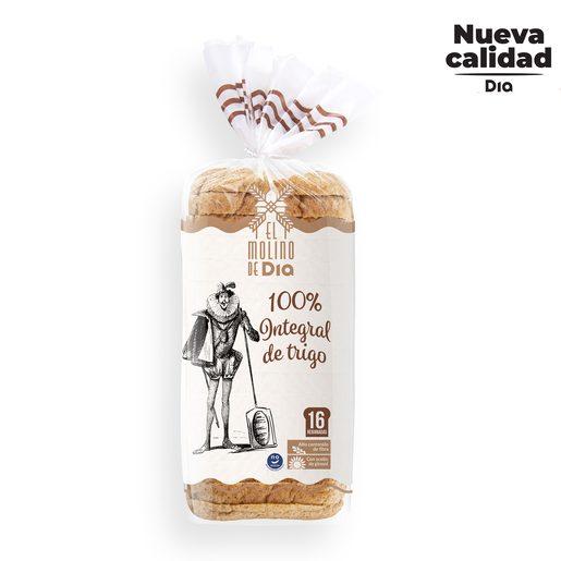 EL MOLINO DE DIA pan de molde 100% integral bolsa 460 gr