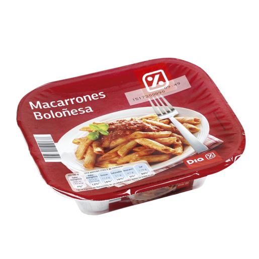 DIA macarrones boloñesa envase 325 gr