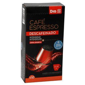 DIA café expresso descafeinado 10 cápsulas caja 53 gr
