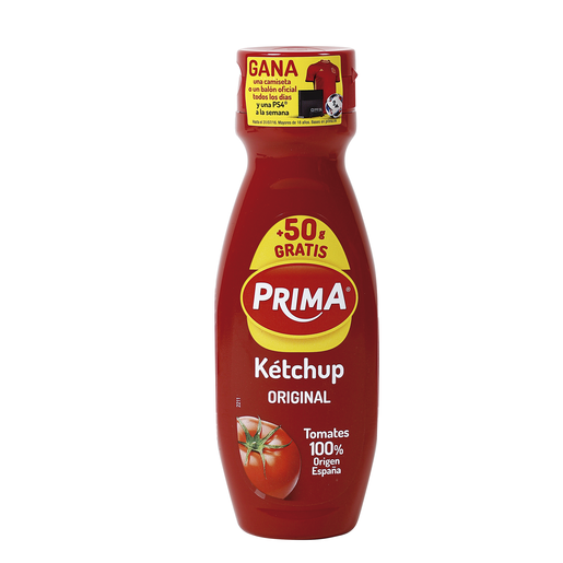 PRIMA ketchup bote 375 gr