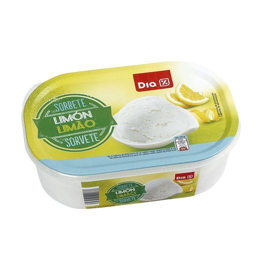DIA sorbete de limón barqueta 520 gr