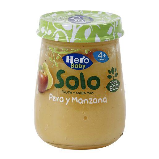 HERO Baby Solo pera y manzana 100% ecológica tarrito 120 gr