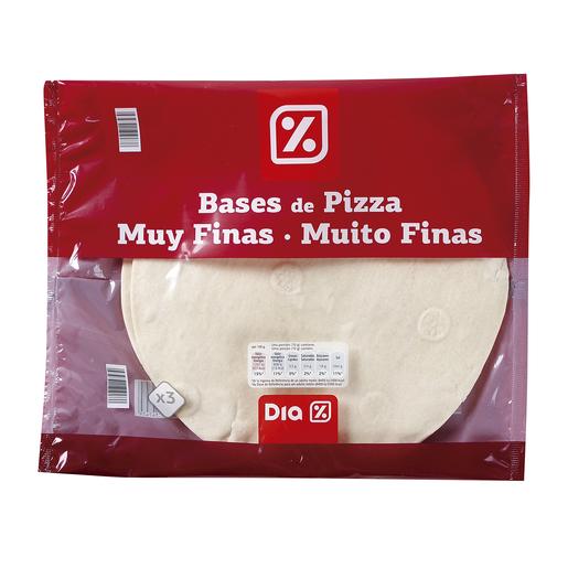 DIA bases de pizza muy finas envase 3 x 140 gr
