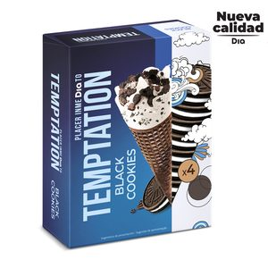 DIA TEMPTATION cono black cookies caja 4 uds 260 gr