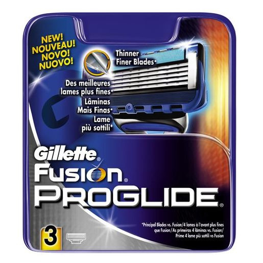 GILLETTE Fusion proglide maquinilla de afeitar recambio blíster 3 uds