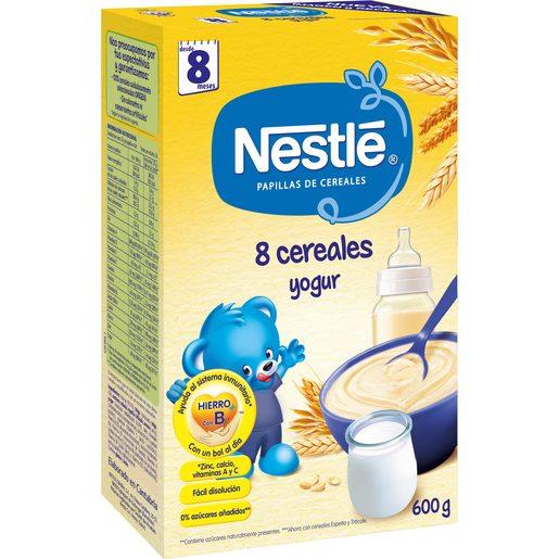 NESTLE papilla 8 cereales con yogur caja 600 gr