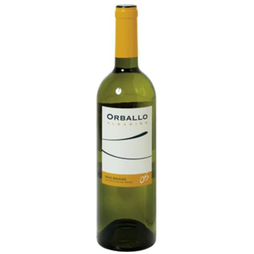 ORBALLO vino blanco albariño DO Rias Baixas botella 75 cl