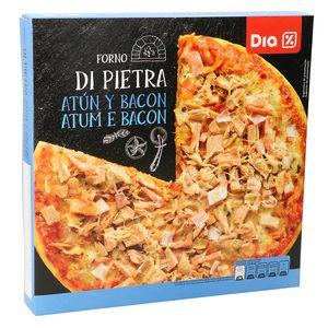 DIA pizza atún y bacon caja 400 gr