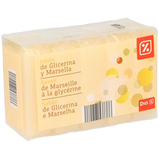 DIA jabón pastilla de glicerina y marsella pack 5 uds