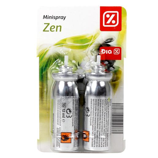 DIA ambientador mini spray aroma zen recambio 2 ud