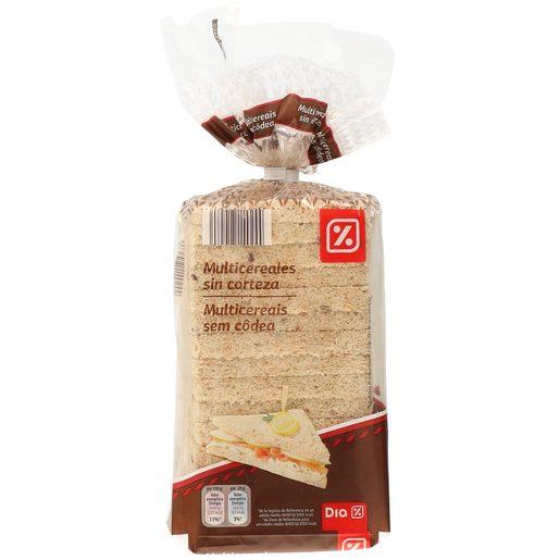 DIA pan de molde multicereales sin corteza bolsa 450 gr