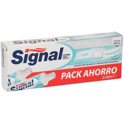 SIGNAL pasta dentifrica bicarbonadto blanqueador pack 2 tubo 100ml