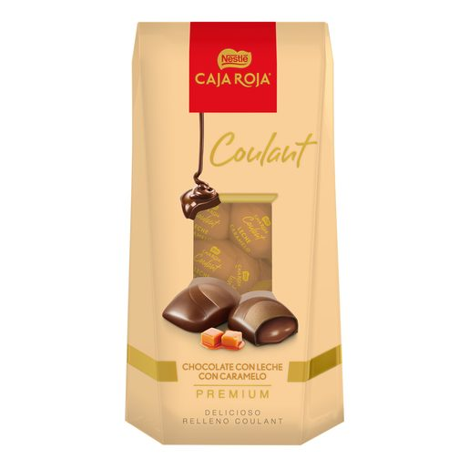 NESTLE bombón coulant chocolate con leche y caramelo caja 142 gr