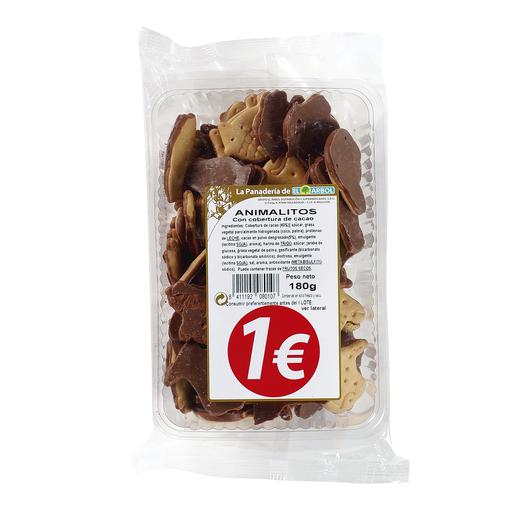 ASINEZ galletas animalitos con cobertura de chocolate paquete 180 gr