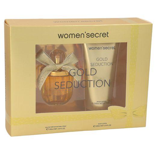 WOMEN SECRET pack gold seduction colonia 100 ml + loción 200 ml