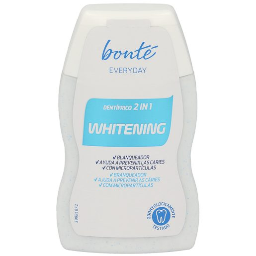 BONTE dentífrico 2 en 1 efecto blanqueador bote 100 ml
