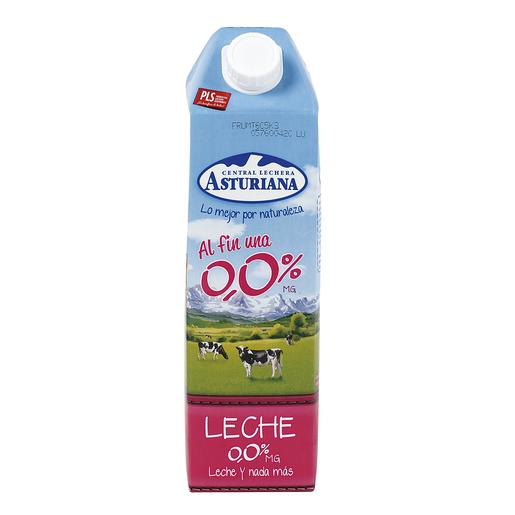 ASTURIANA leche desnatada 0,0%  M.G. envase 1 lt