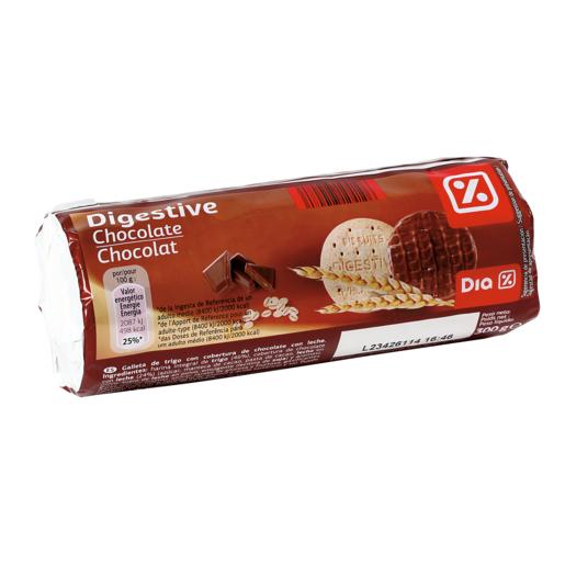 DIA galletas tipo Digestive con chocolate paquete 300 grs