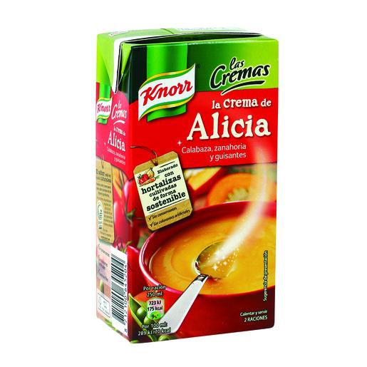 KNORR la crema de alicia calabaza zanahoria y guisantes envase 500 ml