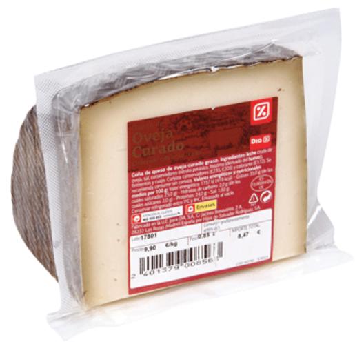 DIA queso de oveja curado cuña (peso aprox. 890 gr)