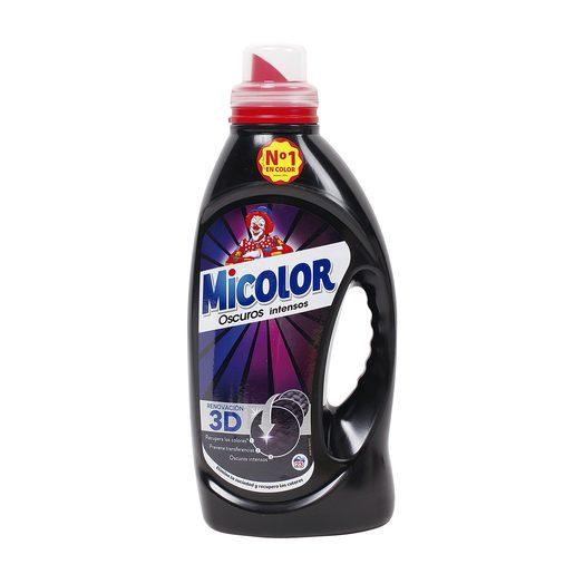 MICOLOR detergente máquina líquido colores oscuros botella 23 lv