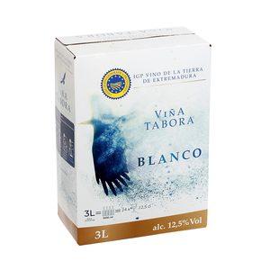 VIÑA TABORA vino blanco IGP de Extremadura caja 3 lt