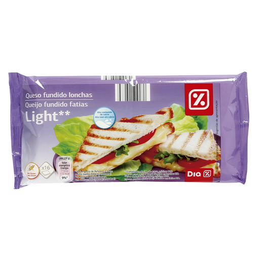 DIA queso fundido light lonchas envase 300 gr
