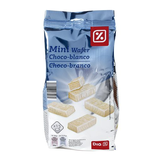 DIA mini barquillo chocolate blanco bolsa 200 gr
