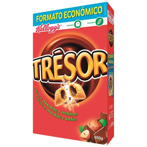 KELLOGG`S cereales trésor rellenos de chocolate y avellanas caja 650 gr