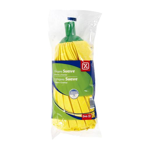 DIA fregona amarilla suave y absorbente paquete 1 ud