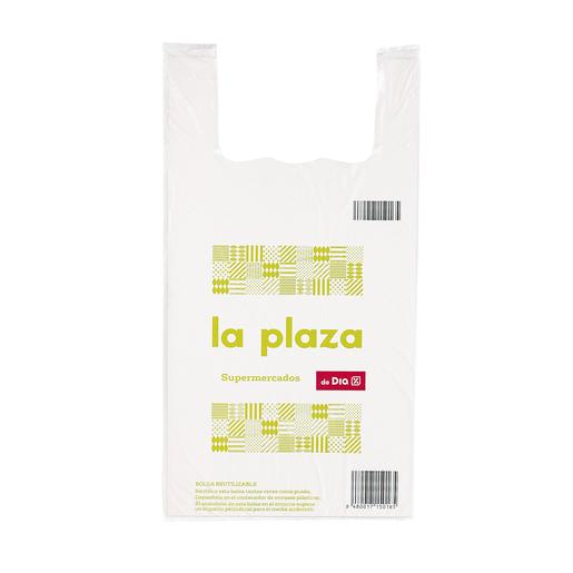 LA PLAZA bolsa reutilizable