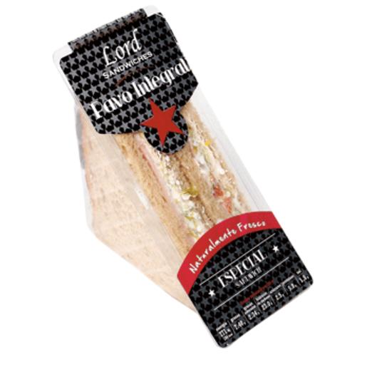 LORD SÁNDWICHES sándwich especial de pavo envase 160g
