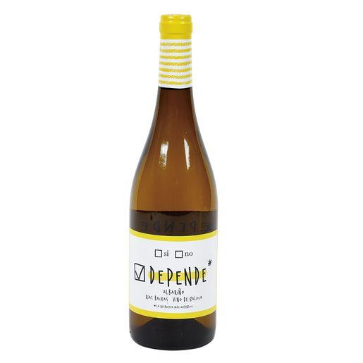 DEPENDE vino blanco albariño de Galicia botella 75 cl