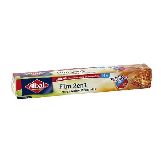 ALBAL film transparente 2 en 1 frigorífico y microondas 15 m.