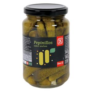 DIA pepinillos sabor anchoa frasco 180 gr