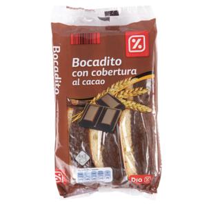 DIA bizcocho con cobertura al cacao paquete 330 gr