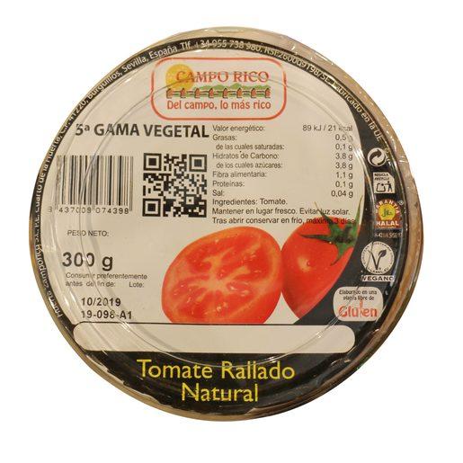 Tomate natural rallado 300 gr