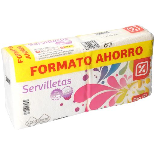 DIA servilletas blancas 1 capa paquete 200 uds