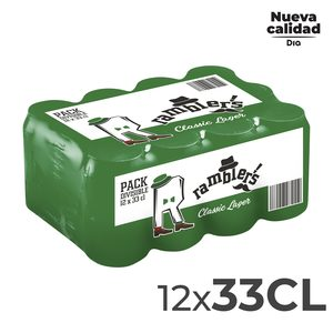 DIA RAMBLERS cerveza lager lata 33 cl PACK 12