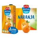 DISFRUTA néctar sin azúcar naranja envase 2 lt