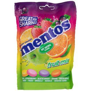 MENTOS caramelos masticables fruit mix bolsa 160 gr