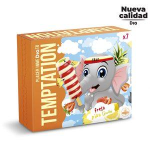 DIA TEMPTATION helado sorbete remolino de sabores caja 7 uds 455 gr